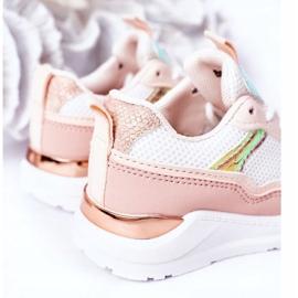 Dziecięce Sportowe Buty Sneakersy Różowe Game Time białe 1
