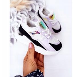Dziecięce Sportowe Buty Sneakersy Czarno-Fioletowe Game Time białe czarne 3