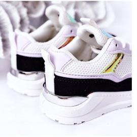 Dziecięce Sportowe Buty Sneakersy Czarno-Fioletowe Game Time białe czarne 1