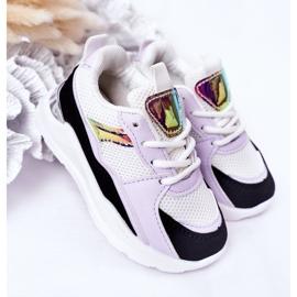 Dziecięce Sportowe Buty Sneakersy Czarno-Fioletowe Game Time białe czarne 2