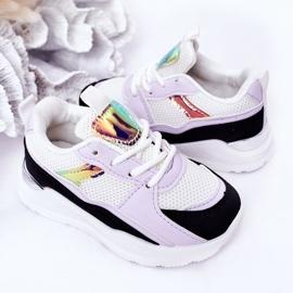 Dziecięce Sportowe Buty Sneakersy Czarno-Fioletowe Game Time białe czarne 5