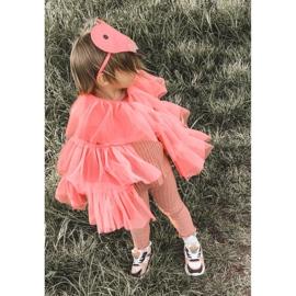 Dziecięce Sportowe Buty Sneakersy Neonowy Róż Game Time białe czarne różowe 1