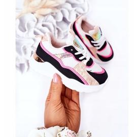 Dziecięce Sportowe Buty Sneakersy Neonowy Róż Game Time białe czarne różowe 5