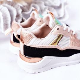 Dziecięce Sportowe Buty Sneakersy Czarno-Różowe Game Time białe czarne 4