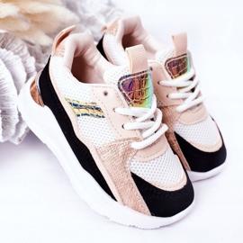 Dziecięce Sportowe Buty Sneakersy Czarno-Różowe Game Time białe czarne 5