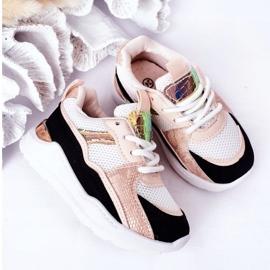 Dziecięce Sportowe Buty Sneakersy Czarno-Różowe Game Time białe czarne 9
