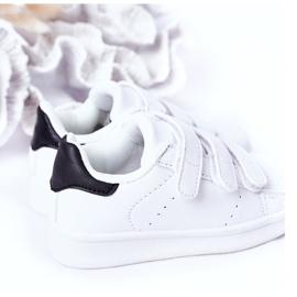 FR1 Dziecięce Sportowe Buty Na Rzepy Biało-Czarne Fifi białe 1