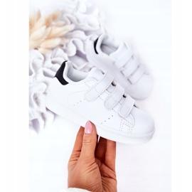 FR1 Dziecięce Sportowe Buty Na Rzepy Biało-Czarne Fifi białe 2