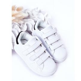 FR1 Dziecięce Sportowe Buty Na Rzepy Biało-Czarne Fifi białe 3