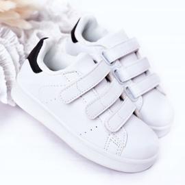 FR1 Dziecięce Sportowe Buty Na Rzepy Biało-Czarne Fifi białe 4