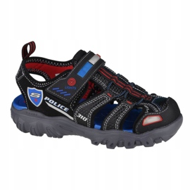 Sandały Skechers Damager III-Sand Patrol Jr 400073L-BKRB czarne niebieskie 3
