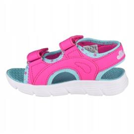 Sandały Skechers C-Flex Sandal-Star Zoom Jr 86980N-HPMT niebieskie różowe 1