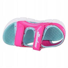 Sandały Skechers C-Flex Sandal-Star Zoom Jr 86980N-HPMT niebieskie różowe 2