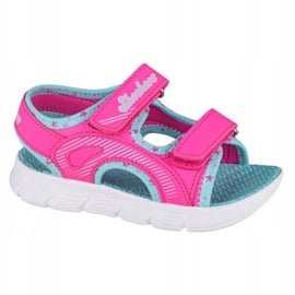 Sandały Skechers C-Flex Sandal-Star Zoom Jr 86980N-HPMT niebieskie różowe 3
