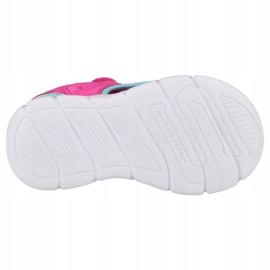 Sandały Skechers C-Flex Sandal-Star Zoom Jr 86980N-HPMT niebieskie różowe 4