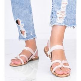 Beżowe sandały damskie Rosina beżowy 1