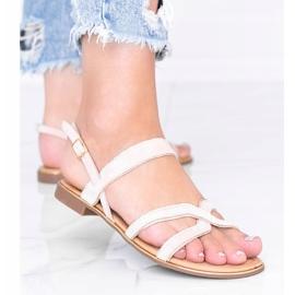 Beżowe sandały damskie Rosina beżowy 2