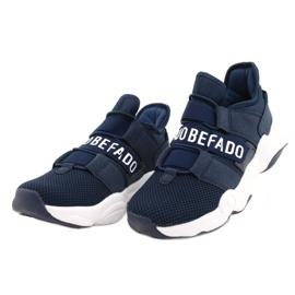 Befado obuwie młodzieżowe  516Q065 granatowe 2