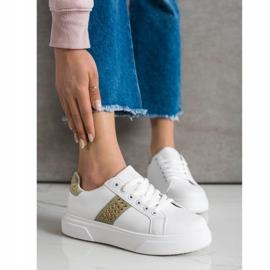 SHELOVET Sneakersy Z Ozdobami białe 2
