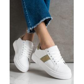 SHELOVET Sneakersy Z Ozdobami białe 1