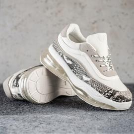 SHELOVET Sneakersy Na Przezroczystej Platformie białe wielokolorowe 1