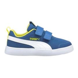 Buty Puma Courtflex v2 Mesh V Jr 371758 07 niebieskie 2