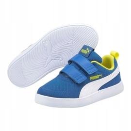 Buty Puma Courtflex v2 Mesh V Jr 371758 07 niebieskie 3