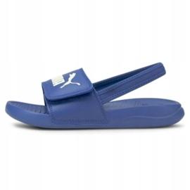 Sandały Puma Popcat 20 Backstrap Jr 380555 06 niebieskie 1