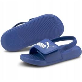 Sandały Puma Popcat 20 Backstrap Jr 380555 06 niebieskie 3