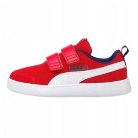 Buty Puma Courtflex v2 Mesh V Jr 371758 06 czerwone 1