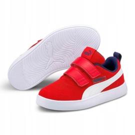 Buty Puma Courtflex v2 Mesh V Jr 371758 06 czerwone 4