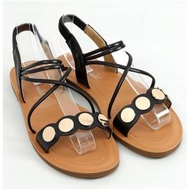 Sandałki damskie czarne 4900 Black 1