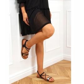 Sandałki damskie czarne 4900 Black 3