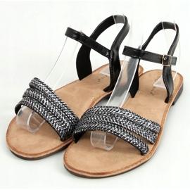 Sandałki damskie czarne N-70 Black 1