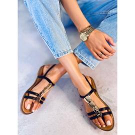 Sandałki damskie czarne N-101 Black 3