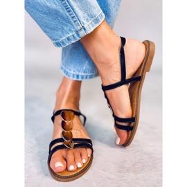 Sandałki damskie czarne N-101 Black 2