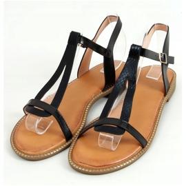 Sandałki damskie czarne C35-CH Black 1