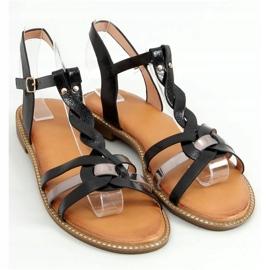 Sandałki damskie czarne C43 Black 1