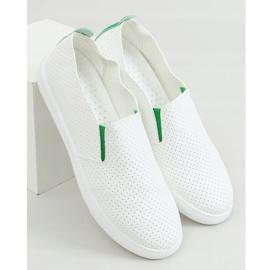 Trampki slip-on białe LA45 Green zielone 1