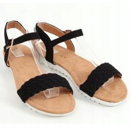 Sandałki damskie czarne X572 Black 1