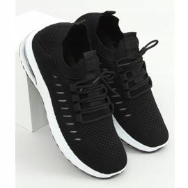 Buty sportowe skarpetkowe czarne JHY90820 Black 1