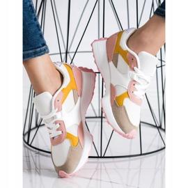 SHELOVET Kolorowe Sneakersy białe wielokolorowe 4
