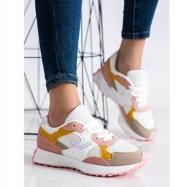 SHELOVET Kolorowe Sneakersy białe wielokolorowe 2