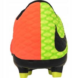 Buty piłkarskie Nike Hypervenom Phelon Iii zielone zielony, pomarańczowy 4