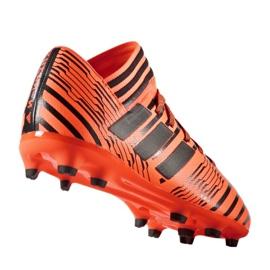 Buty piłkarskie adidas Nemeziz 17.3 Fg Jr S82428 pomarańczowe pomarańczowe 1