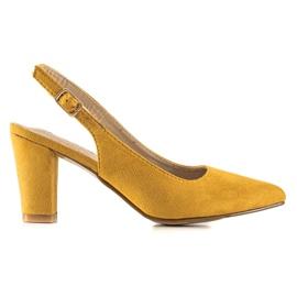 Goodin Casualowe Czółenka żółte 1