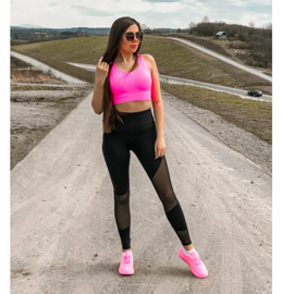 SHELOVET Klasyczne Sneakersy Z Eko Skóry różowe 6