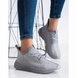 SHELOVET Szare Tekstylne Sneakersy 1