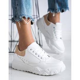 SHELOVET Modne Białe Sneakersy 2
