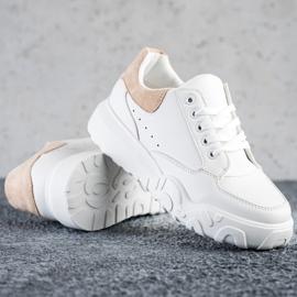 SHELOVET Modne Białe Sneakersy 1